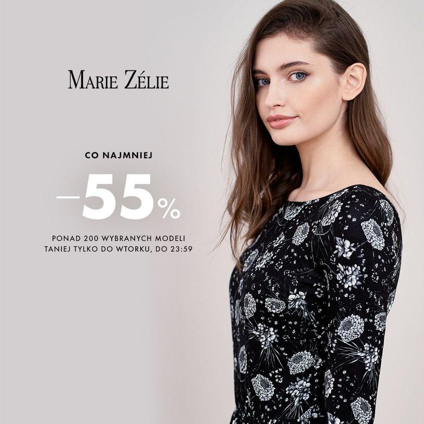 Marie Zelie: minimum 55% zniżki na odzież damską - ponad 200 wybranych modeli