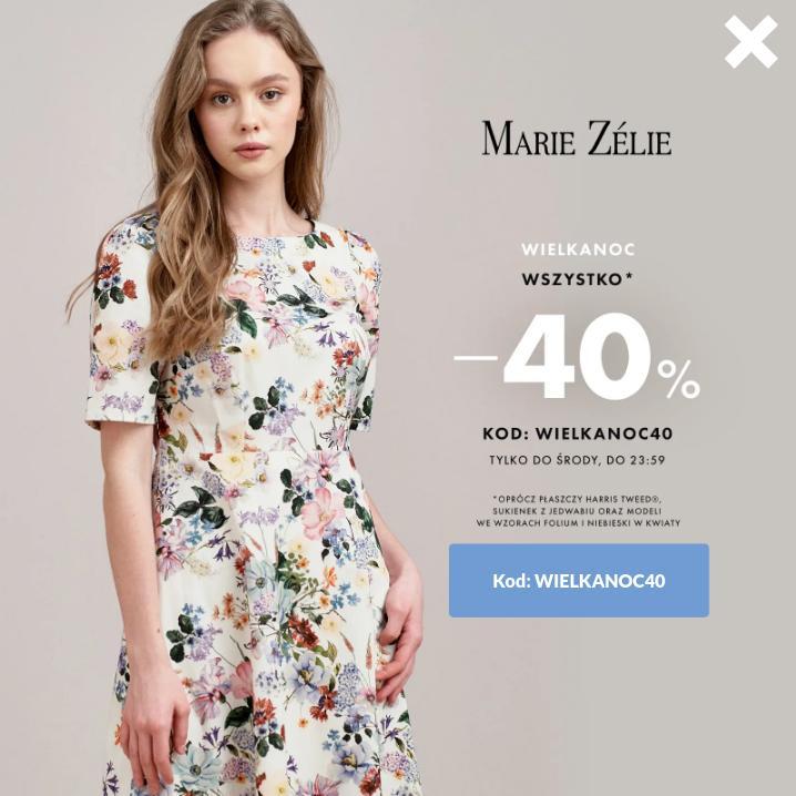 Marie Zelie Marie Zelie: 40% rabatu na odzież damską - Wielkanocna promocja