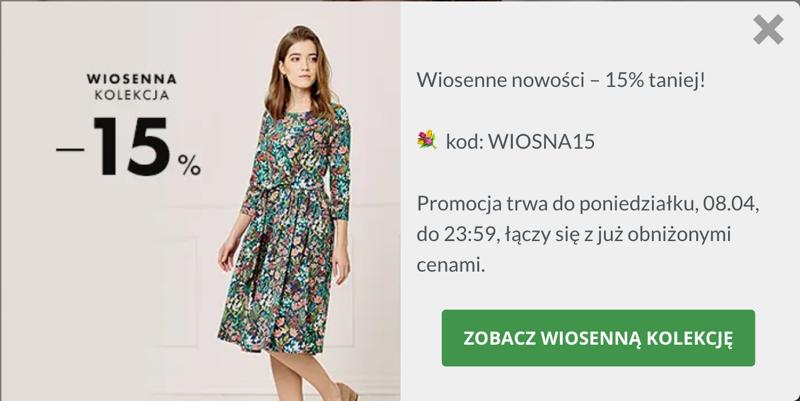 Marie Zelie: 15% zniżki na wiosenną kolekcję odzieży damskiej