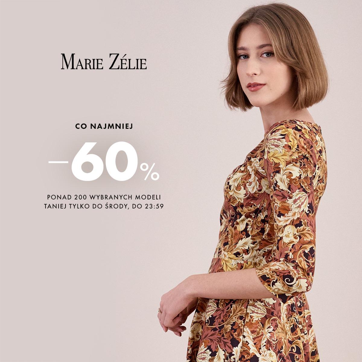 Marie Zelie Marie Zelie: co najmniej 60% rabatu na ponad 200 wybranych modeli odzieży damskiej