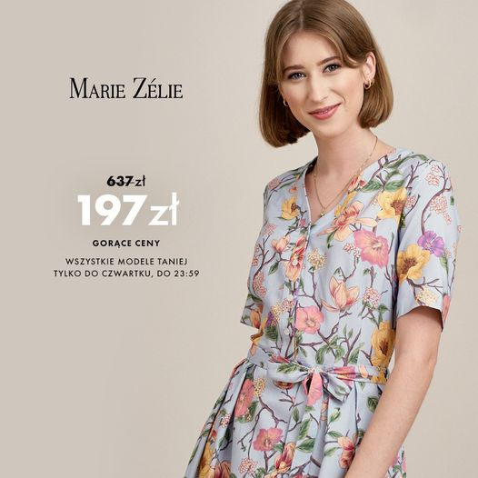Marie Zelie: do 70% zniżki na odzież damską m.in. sukienki oraz spódnice