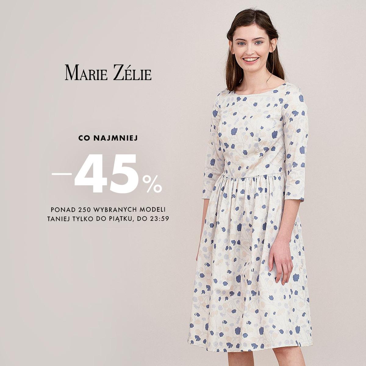 Marie Zelie: co najmniej 45% rabatu na ponad 250 wybranych modeli damskich