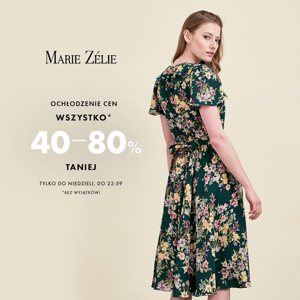 Marie Zelie: od 40% do 80% rabatu na odzież damską - sukienki, spódnice, bluzki i wiele innych