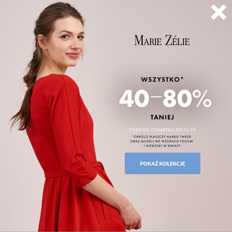 Marie Zelie: 40-80% rabatu na odzież damską
