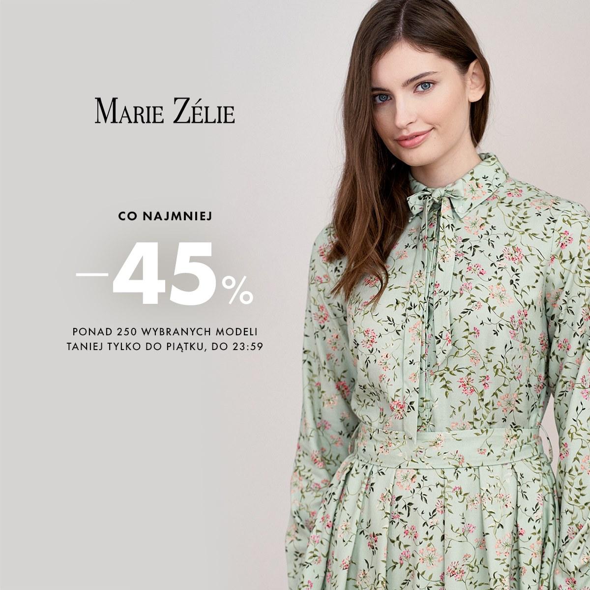 Marie Zelie: minimum 45% zniżki na odzież damską