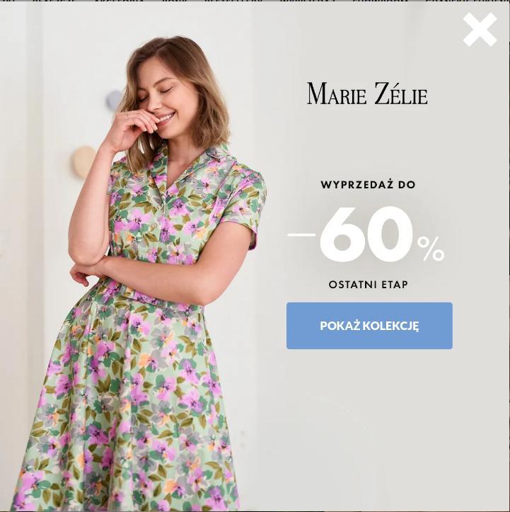 Marie Zelie: wyprzedaż do 60% rabatu na odzież damską