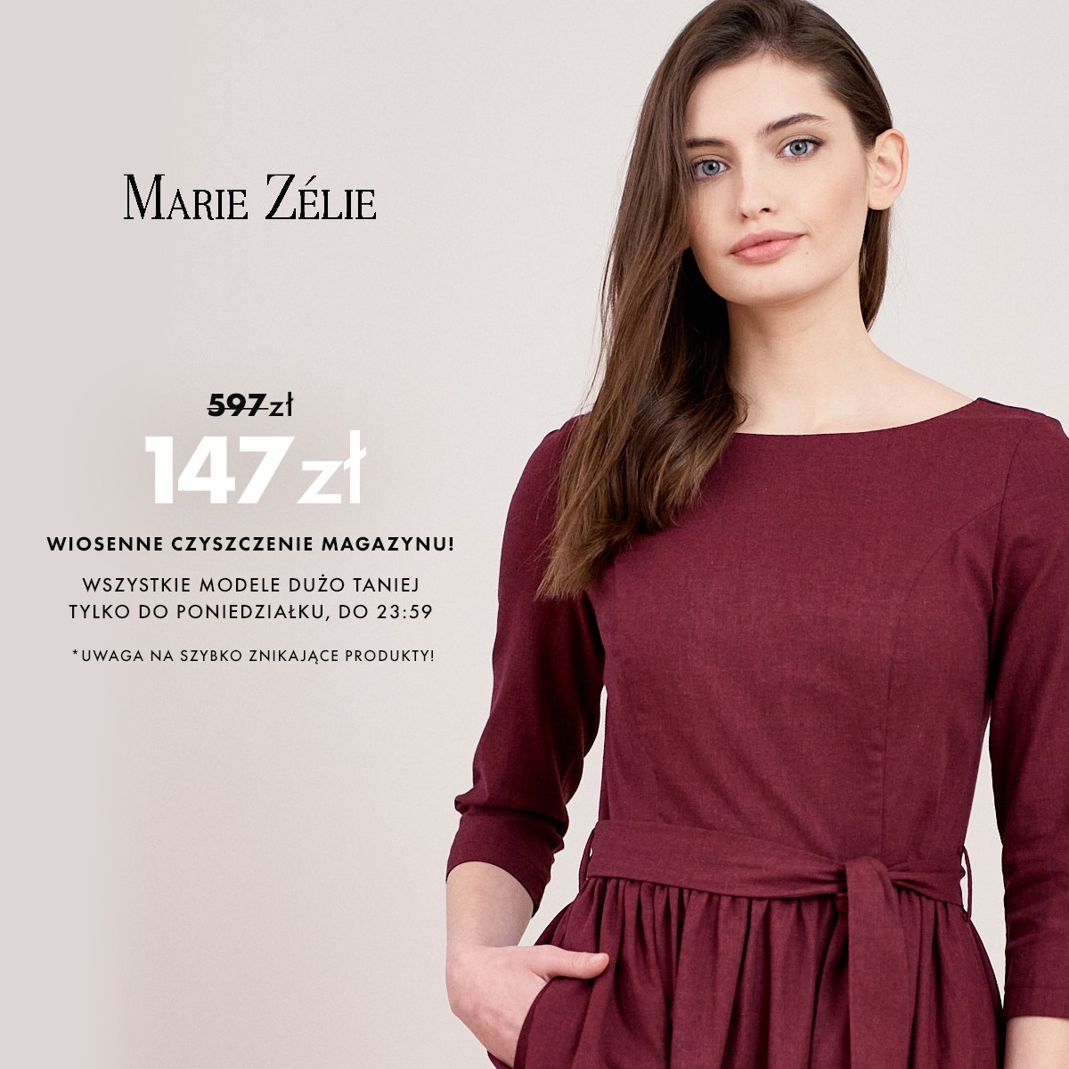 Marie Zelie: do 80% rabatu na wszystkie modele odzieży damskiej