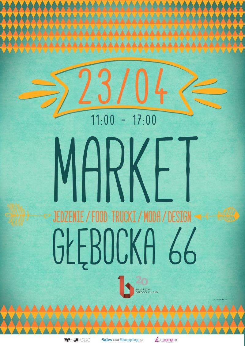 Market Głębocka w Warszawie 23 kwietnia 2017