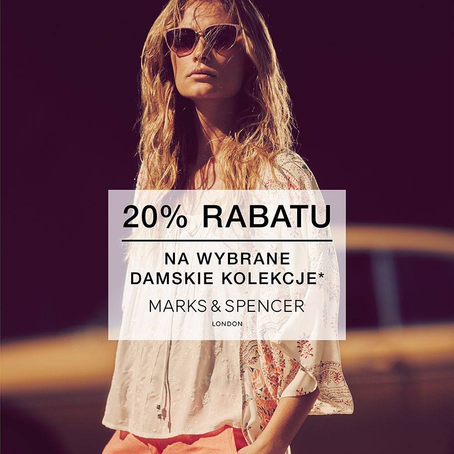 Marks & Spencer: 20% rabatu na kolekcje damskie
