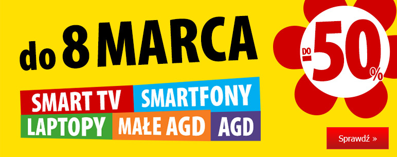 MediaExpert MediaExpert: do 50% rabatu na Smart TV, Smartfony, Laptopy, Małe AGD oraz AGD