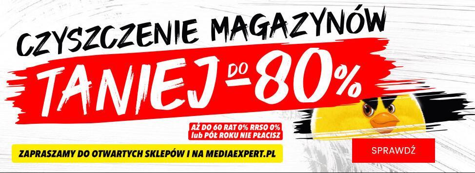 MediaExpert: do 80% zniżki na sprzęt agd, rtv, elektronikę - czyszczenie magazynów