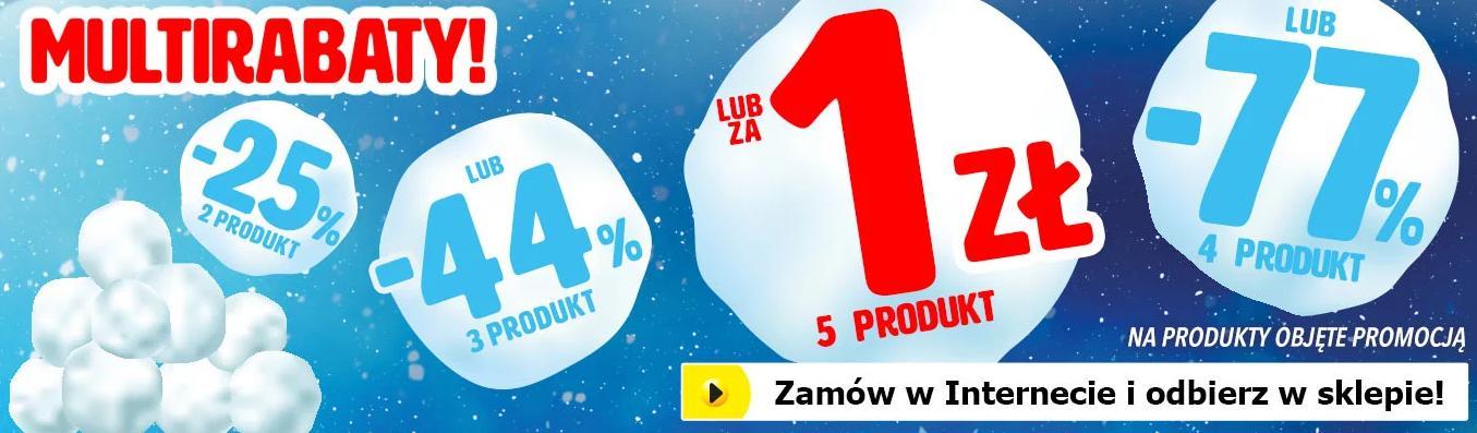 MediaExpert: 5 produkt za 1 zł lub 77% zniżki na 4 produkt lub 44% zniżki na 3 produkt lub 25% zniżki na 2 produkt