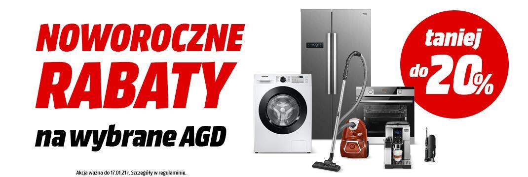 MediaMarkt: do 20% rabatu na wybrane produkty AGD - pralki, lodówki, odkurzacze, ekspresy do kawy, piekarniki