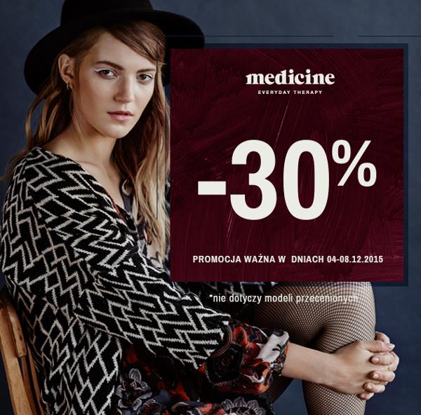 Medicine: 30% zniżki na wszystko