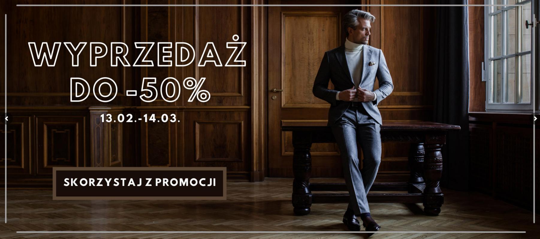 Miler Menswear: wyprzedaż do 50% rabatu na odzież męską