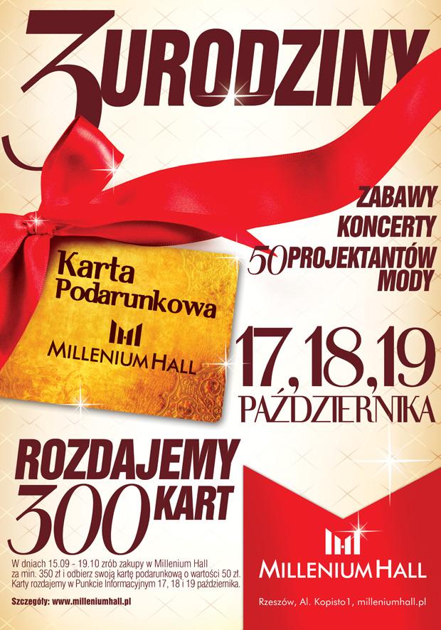 3 urodziny Millenium Hall w Rzeszowie 18-19 października 2014