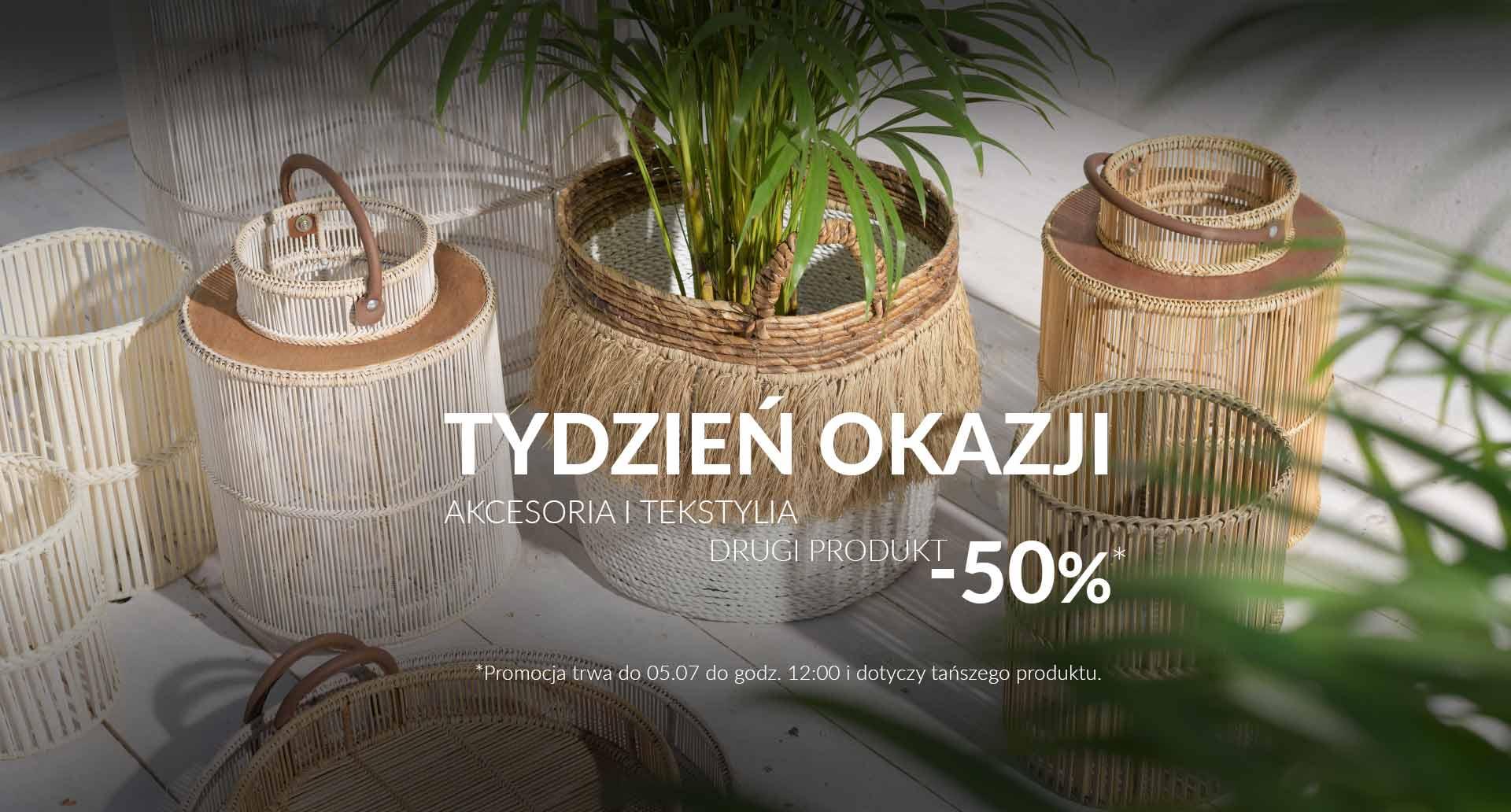 Miloo Home: 50% zniżki na drugi produkt z asortymentu akcesoriów i tekstyliów