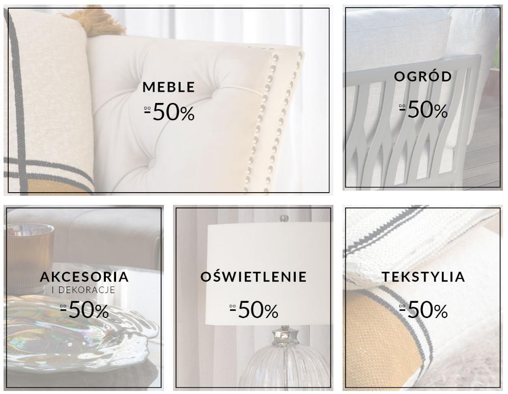 Miloo Home: do 50% rabatu na meble do domu i ogrodu, akcesoria i dekoracje, oświetlenie, tekstylia