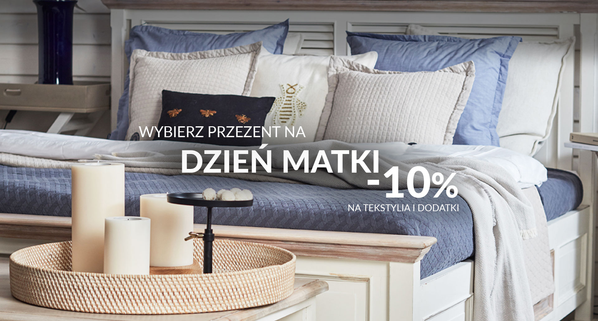Miloo Home: 10% rabatu na tekstylia i dodatki z okazji Dnia Matki