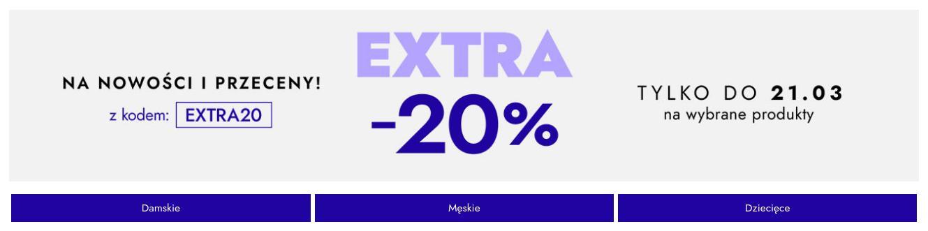 Modivo Modivo: extra 20% rabatu na wybrane nowości i przeceny - odzież i obuwie znanych marek