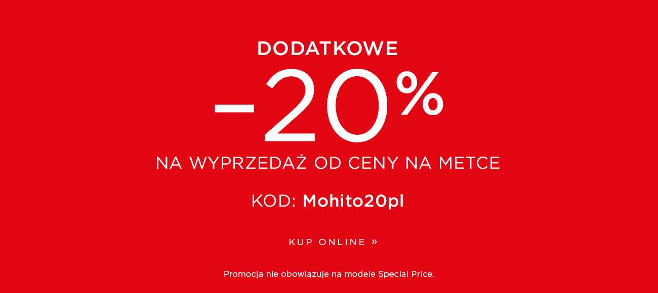 Mohito: wyprzedaż dodatkowe 20% rabatu na odzież z wyprzedaży do 70%                         title=