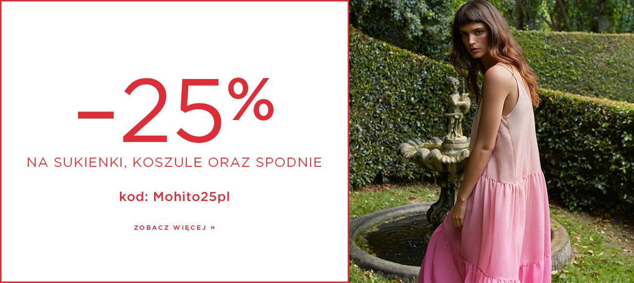 Mohito: 25% rabatu na sukienki, koszule oraz spodnie damskie                         title=