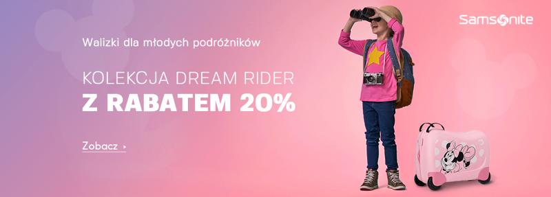 Moja Walizka: 20% zniżki na kolekcję walizek Dream Rider
