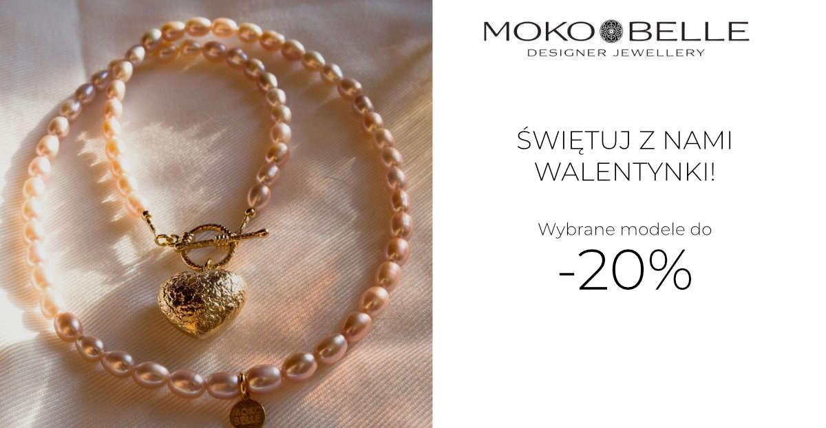 Mokobelle: 20% zniżki na wybrane modele biżuterii - prezent na Walentynki