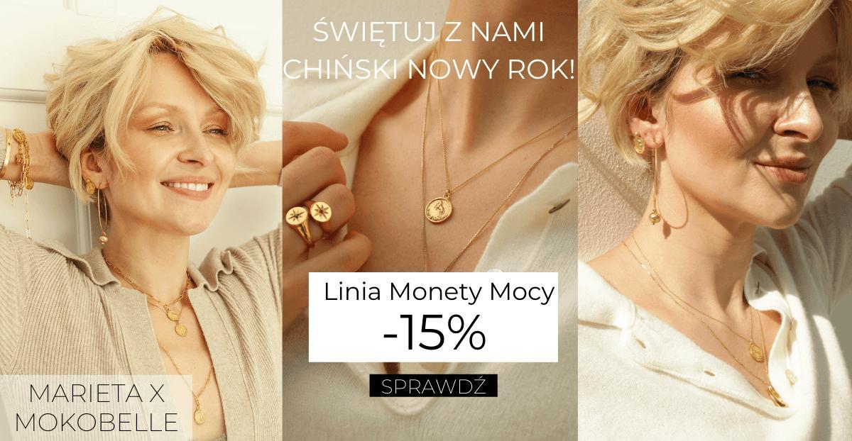 Mokobelle: 15% rabatu na biżuterię Monety Mocy z kolekcji Marieta X Mokobelle
