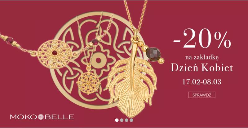 Mokobelle: 20% rabatu na biżuterię z zakładki Dzień Kobiet                         title=