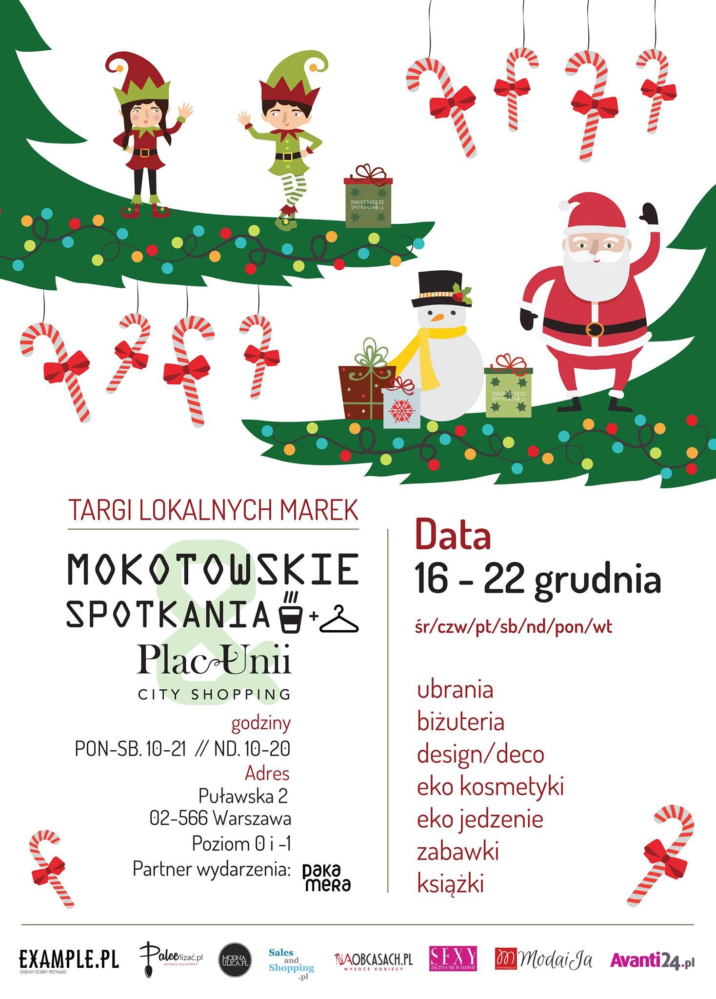Targi Mody Mokotowskie Spotkania w Warszawie 16-22 grudnia 2015