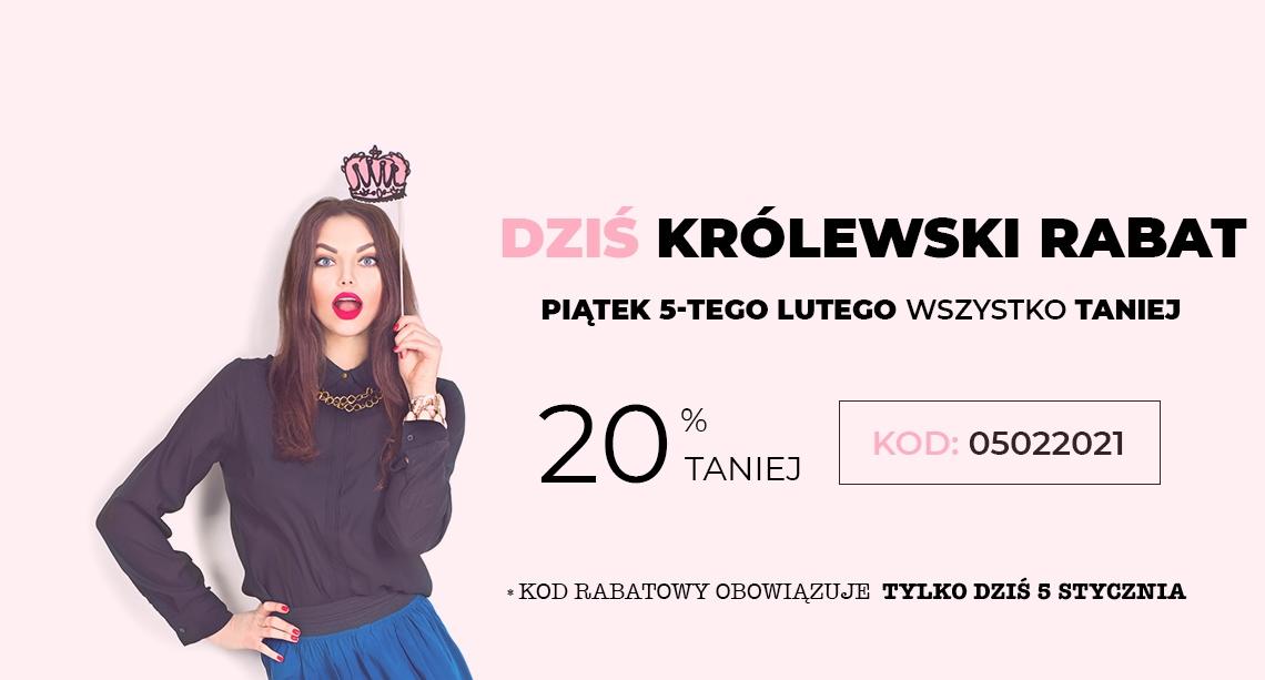 Molly Molly: Królewski Rabat 20% zniżki na modną odzież damską