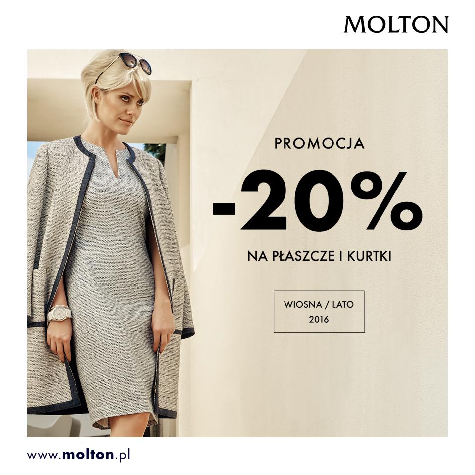Molton: 20% promocja na płaszcze i kurtki