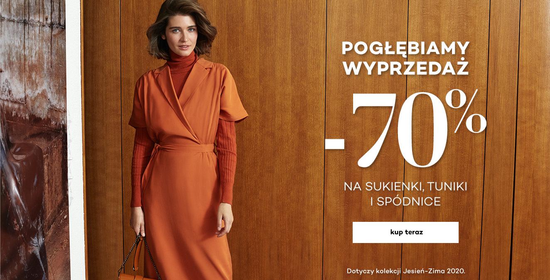 Monnari Monnari: wyprzedaż do 70% zniżki na sukienki, tuniki, spódnice z kolekcji jesień-zima 2020