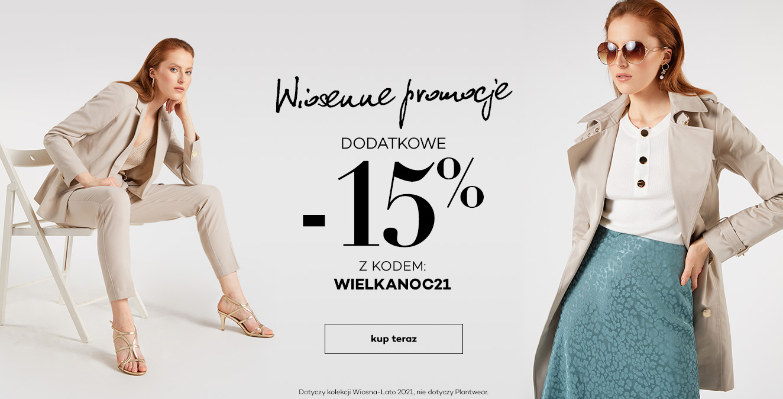 Monnari Monnari: dodatkowe 15% rabatu na odzież damską - Wielkanocne Promocje