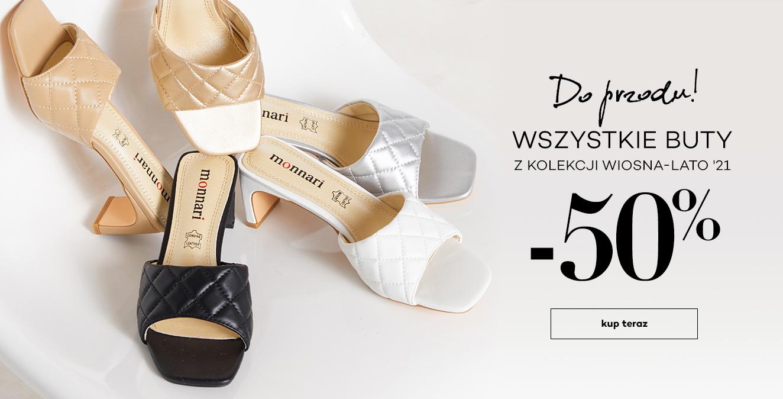 Monnari: 50% zniżki na wszystkie buty z kolekcji Wiosna-Lato 2021