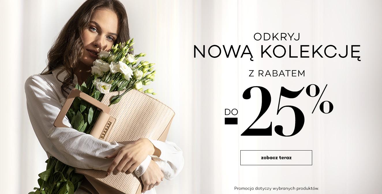 Monnari Monnari: do 25% rabatu na nową kolekcję odzieży damskiej - promocja na Dzień Kobiet