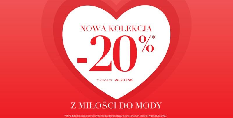Monnari Monnari: Walentynkowa promocja 20% rabatu na nową kolekcję odzieży damskiej