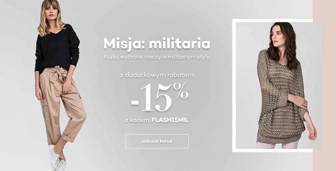 Monnari: 15% rabatu na odzież damską w militarnym stylu                         title=