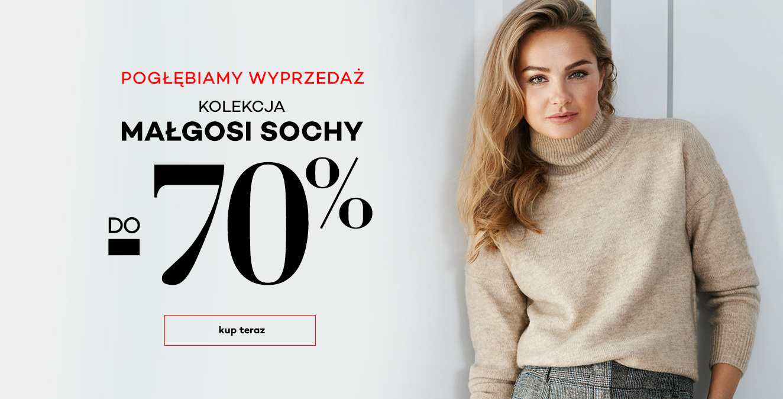 Monnari: pogłębienie wyprzedaży do 70% zniżki na kolekcję odzieży damskiej Małgosi Sochy