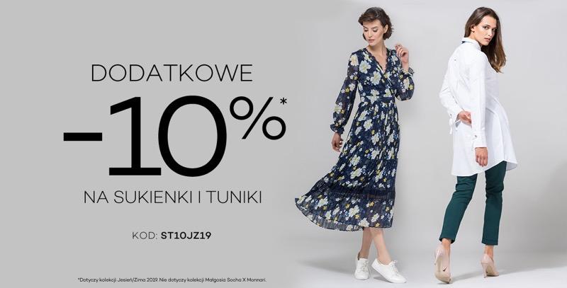 Monnari: dodatkowe 10% rabatu na sukienki i tuniki damskie                         title=