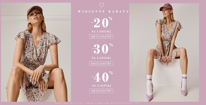 Femestage Eva Minge: do 40% zniżki na odzież damską z kolekcji wiosna-lato 2021 - wiosenne rabaty