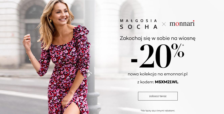Monnari: 20% zniżki na odzież damską z kolekcji Małgosia Socha x Monnari