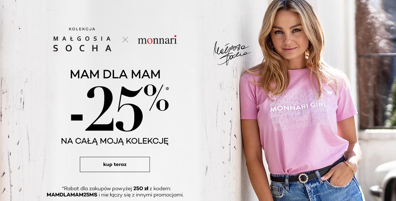 Monnari: 25% rabatu na odzież z kolekcji Małgosi Sochy przy zakupach za min. 250 zł