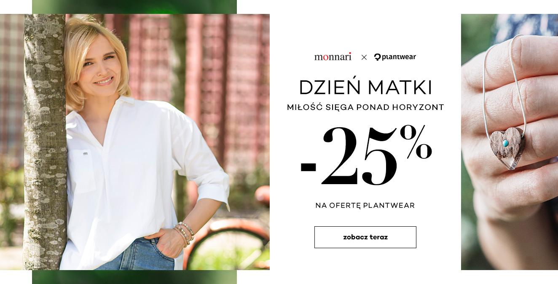 Monnari: 25% zniżki na całą ofertę biżuterii plantwear z okazji Dnia Mamy