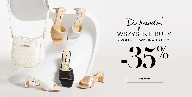 Monnari: 35% zniżki na wszystkie buty z kolekcji wiosna-lato 2021
