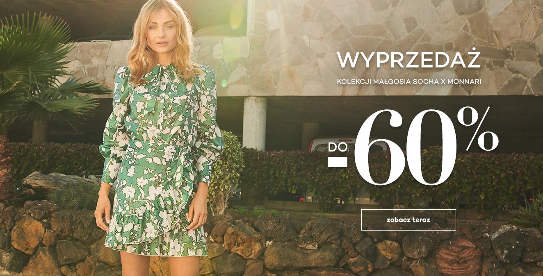 Monnari: wyprzedaż do 60% rabatu na kolekcję odzieży damskiej Małgosia Socha                         title=