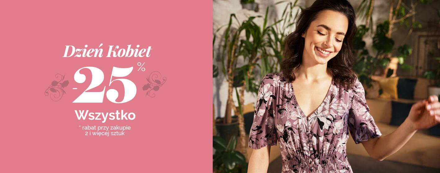 Moodo Moodo: 25% zniżki na odzież damską przy zakupie 2 i więcej produktów - promocja na Dzień Kobiet