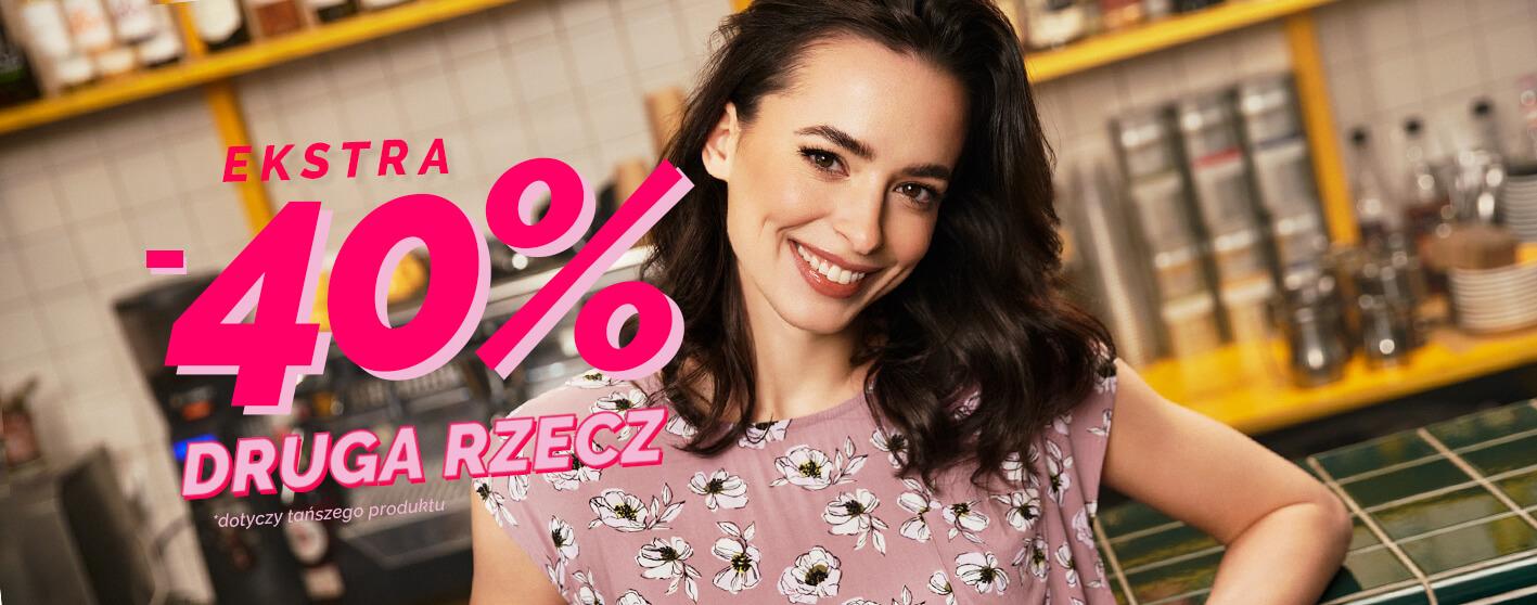 Moodo Moodo: dodatkowe 40% rabatu na drugą rzecz - odzież damska