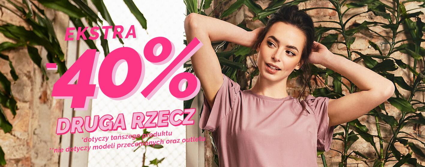 Moodo: dodatkowe 40% zniżki na drugą rzecz - odzież damska